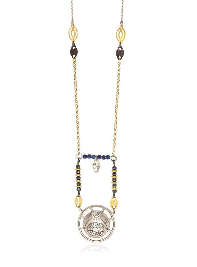 chain necklace small byzantine circle